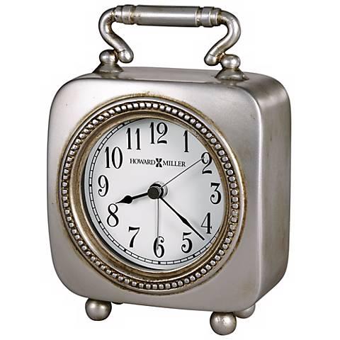 "Howard Miller Kegan 5 3/4"" High Alarm Clock"