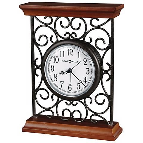 "Howard Miller Mildred 7 1/2"" High Alarm Clock"