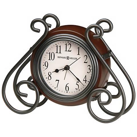 "Howard Miller Diane 6 1/2"" Wide Alarm Clock"