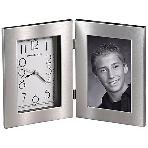 """Howard Miller Lewiston 11"""" Wide Picture Frame Table Clock"""