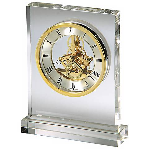 "Howard Miller Prestige 8 1/4"" High Crystal Tabletop Clock"