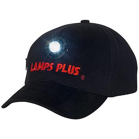 Black Lamps Plus LED Baseball Cap