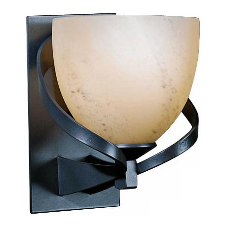 How High Are Wall Sconces : Hubbardton Forge Ribbon Stone Glass 8