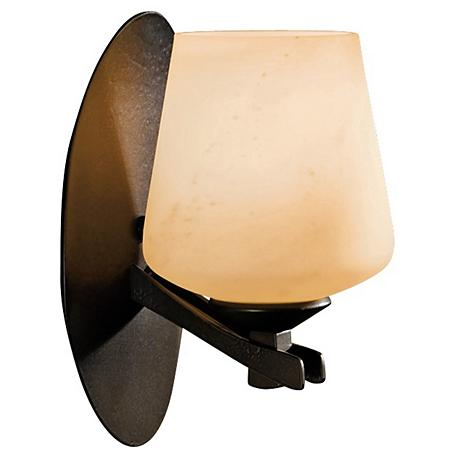 """Hubbardton Forge Ribbon Stone Glass 9"""" High Wall Sconce"""