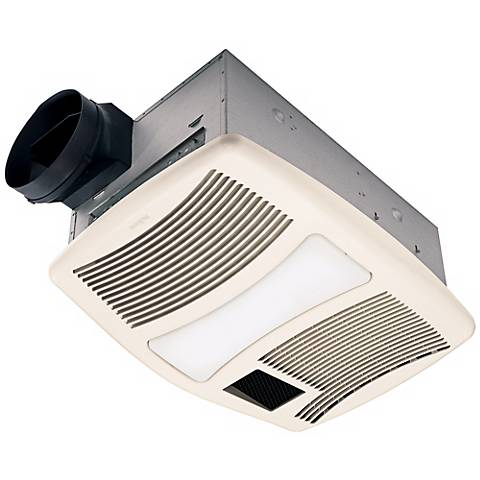Nutone 110 cfm heater and cfl light bath exhaust fan r6209 lamps plus for Bathroom exhaust fan with heater and night light