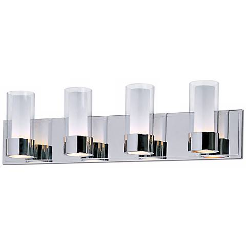 Maxim Silo Polished Chrome 4-Light Bathroom Light Fixture