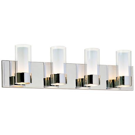 Maxim Silo Polished Chrome 4 Light Bathroom Light Fixture R6234 Lamps Plus