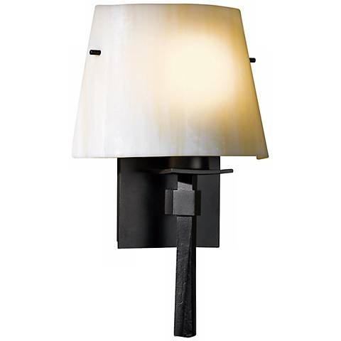 Wall Lamps Beacon : Hubbardton Forge Beacon Hall Ivory Glass Wall Sconce - #R6374 Lamps Plus