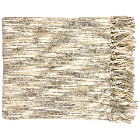 Surya Teegan Gray and Cream Throw Blanket