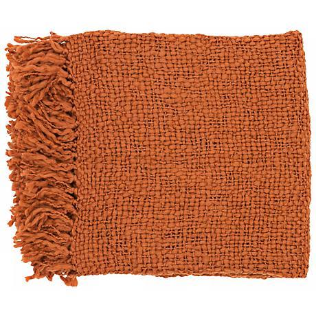 Surya Tobias Rust Throw Blanket