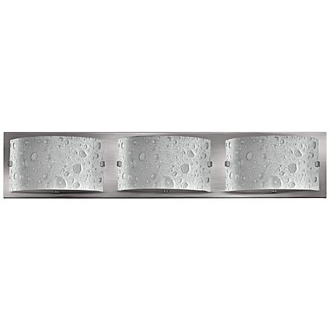"Hinkley Daphne 24"" Wide Brushed Nickel Bathroom Light"