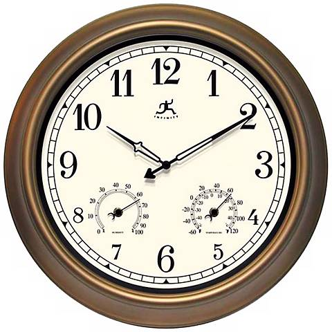 "The Craftsman Outdoor 18"" Wide Round Wall Clock"