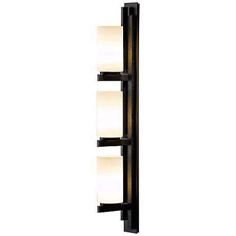 Hubbardton Forge Ondrian Vertical Left Bath Wall Sconce - #R6911 Lamps Plus