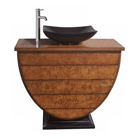 "Legacy Golden Burl Finish 40"" Wide Sink Vanity"