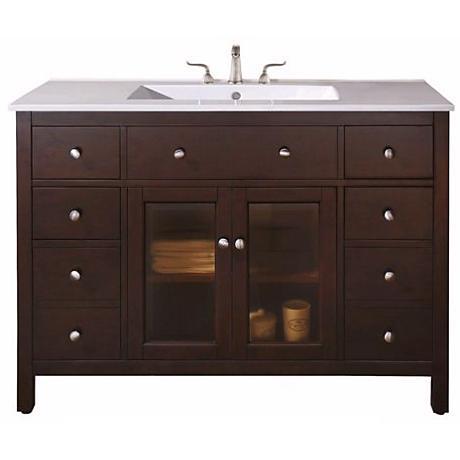 """Lexington Light Espresso 49"""" Wide Sink Vanity"""