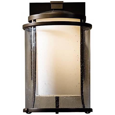 "Hubbardton Forge Meridian 15 3/4"" High Outdoor Wall Light"