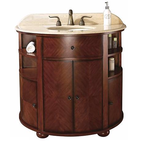 "Oxford Dark Oak Finish 39"" Wide Sink Vanity"