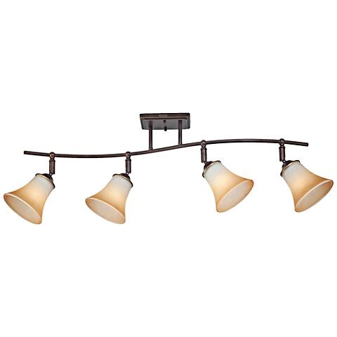 Quoizel Duchess Champagne Marble 4-Light Ceiling Fixture