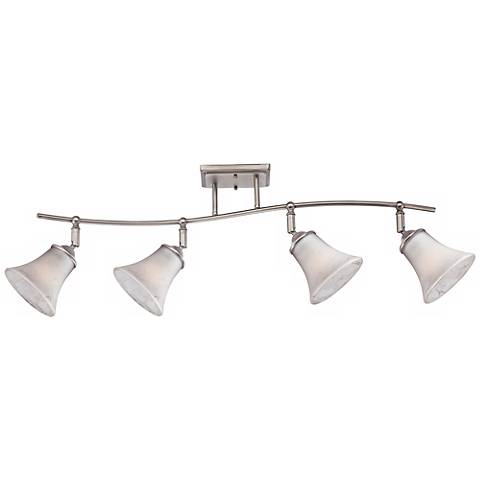 Quoizel Duchess Grey Marble Glass 4-Light Ceiling Fixture