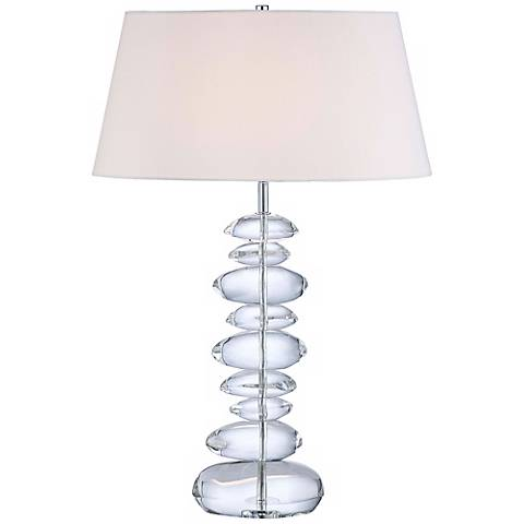 "George Kovacs Polished Nickel Finish 27"" High Table Lamp"