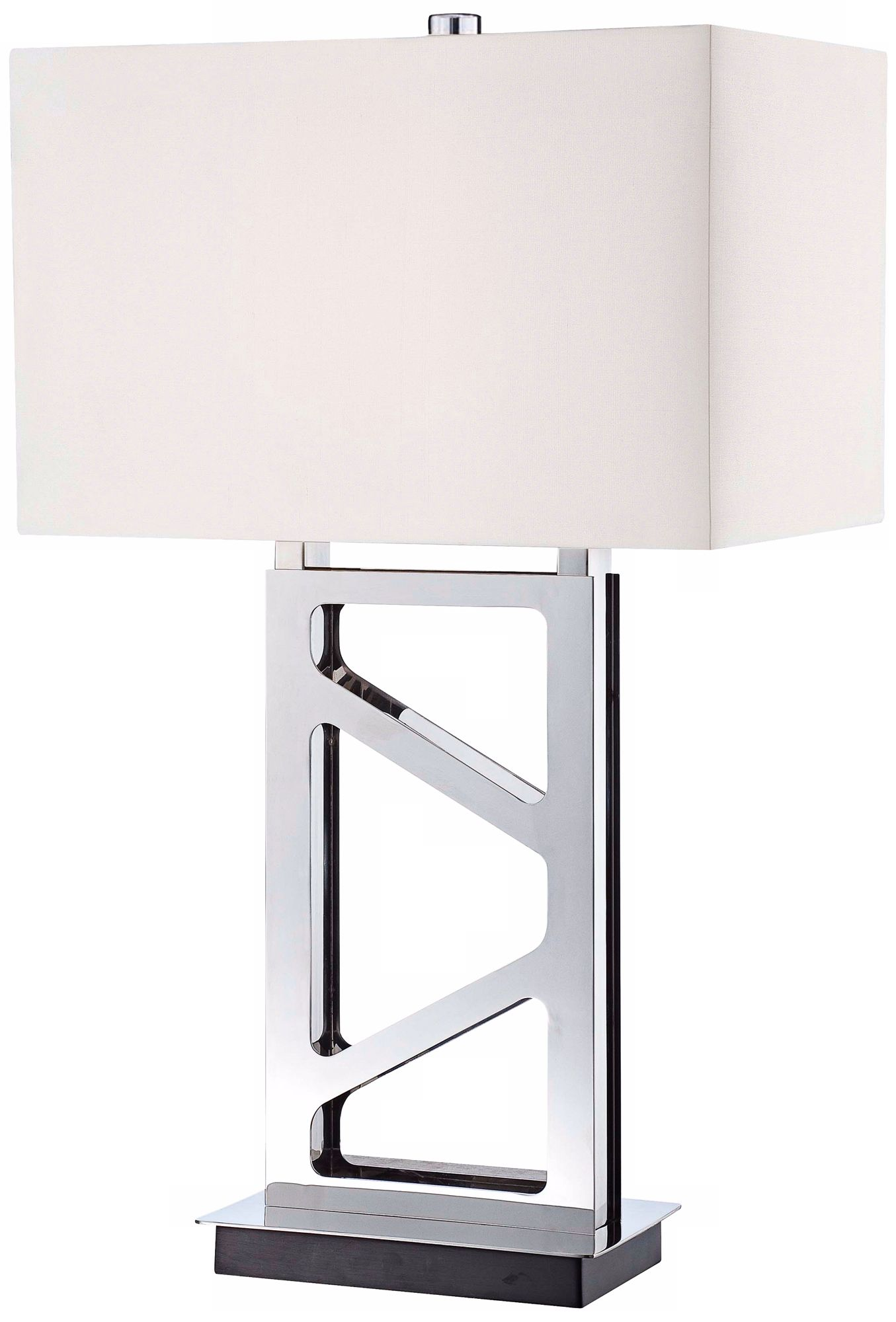 George Kovacs Polished Nickel Open Base Table Lamp