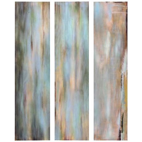 "Uttermost Set of 3 Horizon View Panels 48"" High Wall Art"