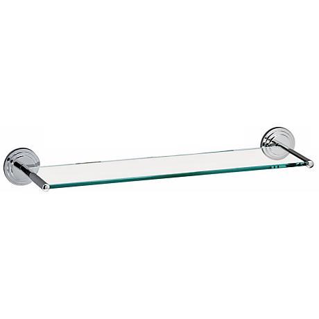 Gatco Marina Glass and Chrome Vanity Wall Shelf