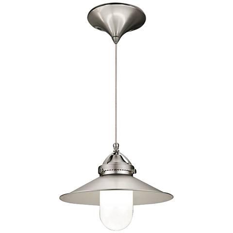 """WAC Freeport 9 1/2"""" Wide LED Brushed Nickel Mini Pendant"""