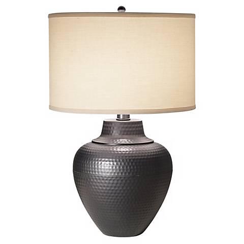 Maison Loft Hammered Pot Table Lamp