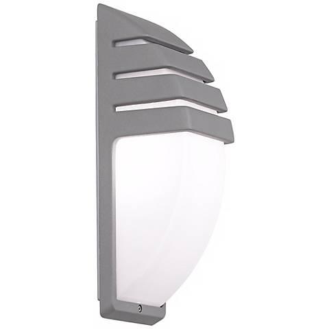 Possini Euro Design Matte Silver Contemporary Wall Light - #R7832 Lamps Plus