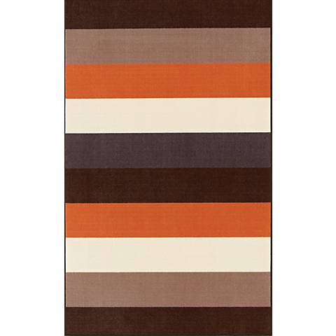 Vibes Collection Stacked Chocolate Area Rug