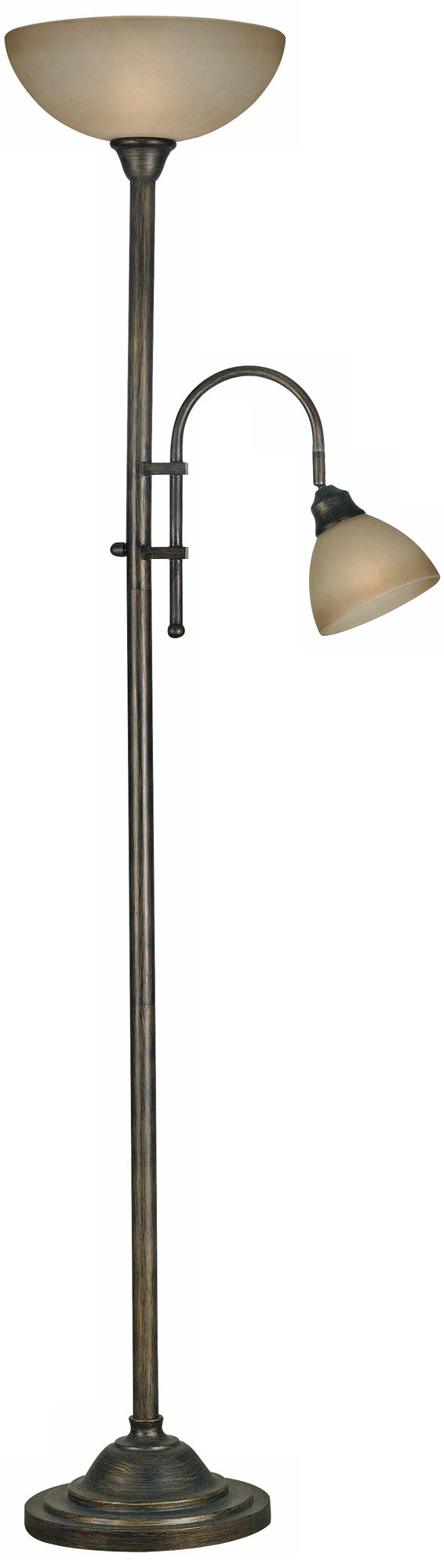 kenroy callahan torchiere floor lamp with side light