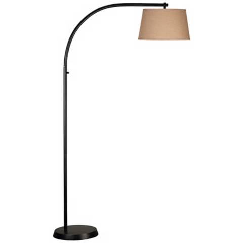 sweep oil rubbed bronze finish arc floor lamp r8083 lamps plus. Black Bedroom Furniture Sets. Home Design Ideas