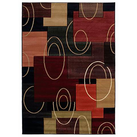 Mossa Collection Rhumba Onyx Area Rug