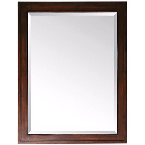 "Avanity Madison Light Espresso 28"" Wide Wall Mirror"