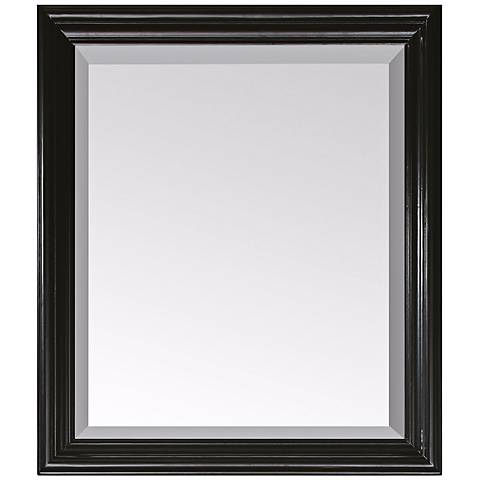 "Avanity Milano Black 30"" Wide Rectangular Wall Mirror"