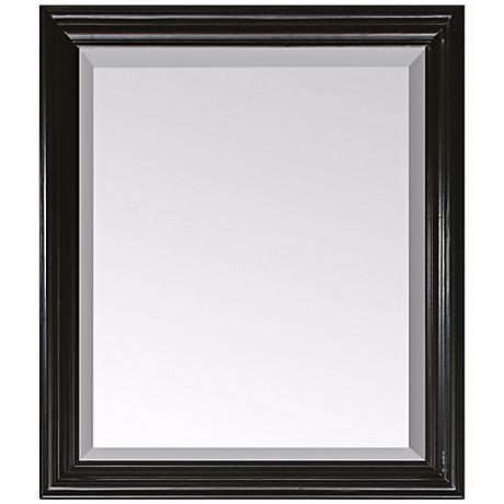 "Avanity Milano Black 30"" Wide Rectangular Wall Mirror"
