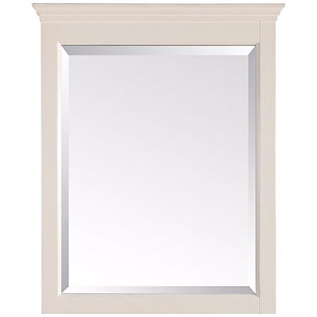 "Avanity Tropica Antique White 32"" High Tall Wall Mirror"