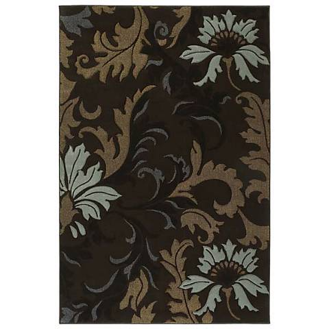 Mossa Collection Cannes Smoke Blue Area Rug