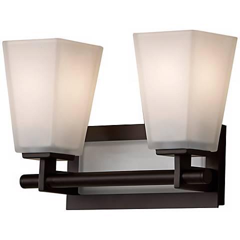 Feiss clayton 13 1 4 wide bathroom light fixture r9245 for Bathrooms r us clayton