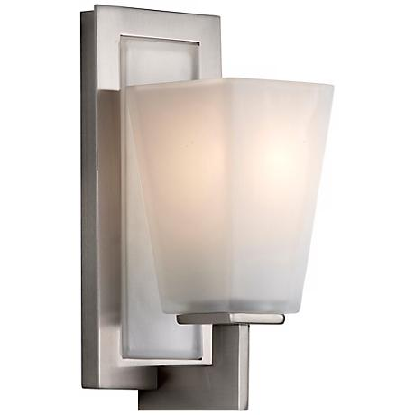 """Feiss Clayton Brushed Steel 10 1/2"""" High Wall Sconce"""