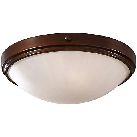 "Feiss Perry Bronze 13"" Round Flush Ceiling Light"