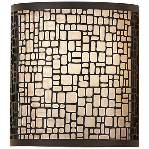 """Feiss Joplin Light Antique Bronze 9"""" High Wall Sconce"""