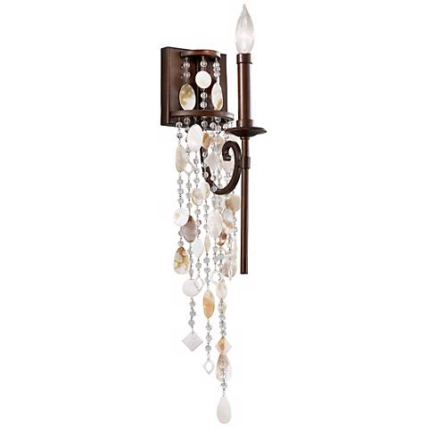 "Feiss Cascade 17"" High Heritage Bronze Wall Sconce"