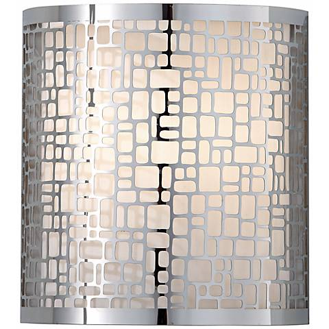 "Feiss Joplin Chrome 9"" High Wall Sconce"