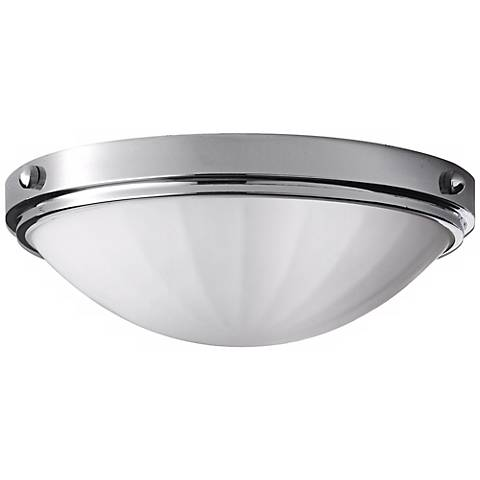 "Feiss Perry Chrome13"" Wide Flushmount Ceiling Light"