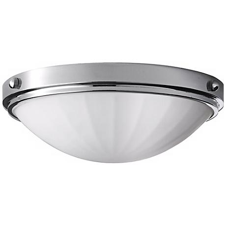 """Feiss Perry Chrome13"""" Wide Flushmount Ceiling Light"""