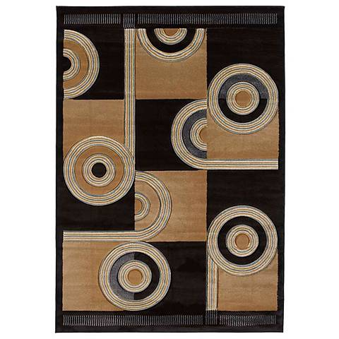 Mossa Collection Rollo Chocolate Area Rug