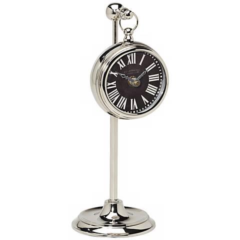 Uttermost Marchant Black Pocket Watch Desk Clock