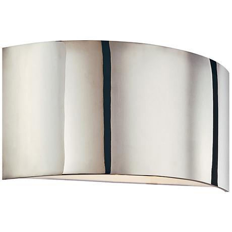 "Sonneman Dianelli 8"" High Polished Nickel Wall Sconce"